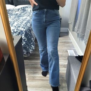 Garage High Waisted Wide Leg Bootcut Style Jeans